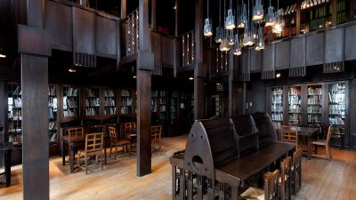 Interior of the Glasgow Art School designed by Charles Rennie Mackintosh, lost to fire. Photo courtesy of dezeen.