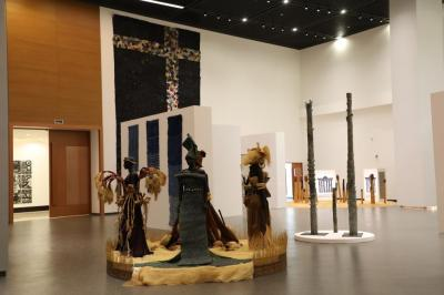 Inaugural exhibition at the new museum in Dakar.