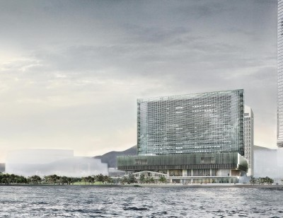 Rendering of the M+building by Herzog & DeMeuron