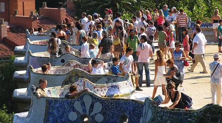 Barcelona's Guell Park. Photo courtesy of Cheapo Travel.
