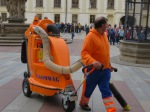 Cleanup crew at Prague Castle