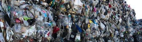 Plastic baled for recycling. Courtesy National Public Radio