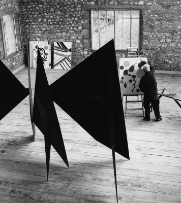 Calder in his atelier
