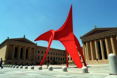 Calder stabile at the Philadelphia Museum of Art. Photo courtesy of Tom Gralish.